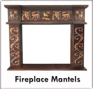 copper fireplace mantels