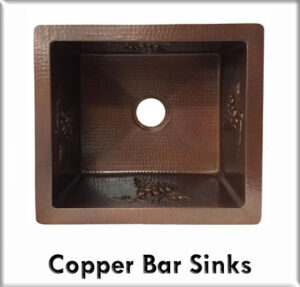 Copper bar sinks