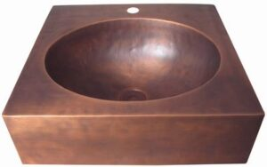 copper sink with pedestal base
