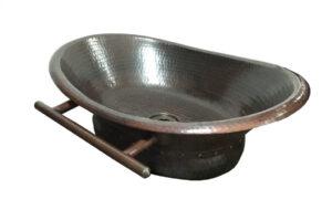 Copper sink with a bath tub design