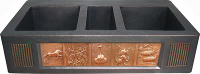 copper apron sink with Short Apron Frame With Vents Used