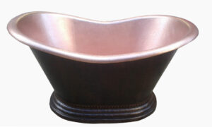 copper bath tub new penny interior and dark exterior