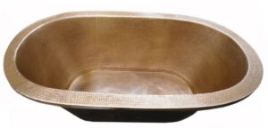 copper bath tub oval drop in