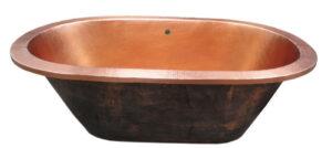 copper oval bath tub drop in