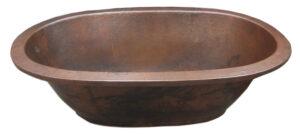copper bath tub undermount brown dark