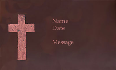 copper grave marker cross blank