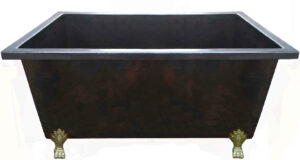 copper rectangular bath tub