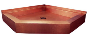 copper shower pan neo angle in old penny