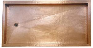rectangle copper show pan in golden bronze