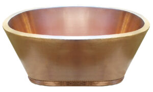 copper tub double wall with decorative base