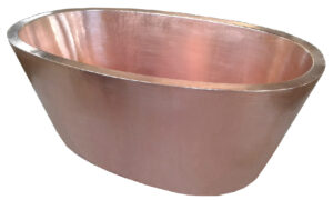 copper tub double wall with new penny