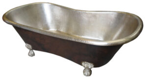 copper tub nickel plated patina