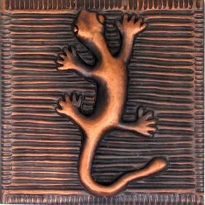 copper tile with gecko