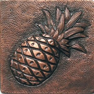 copper tile with pineaple