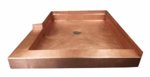 custom copper notched shower pan