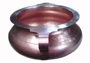 copper vessel sink designed like a vase