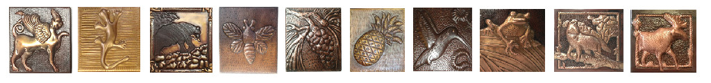 decorative copper tile design samples