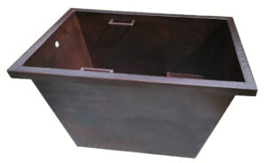 japanese copper tub with seat and handles