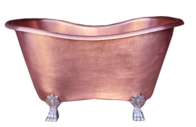 copper claw foot bath tub in new penny patina finish