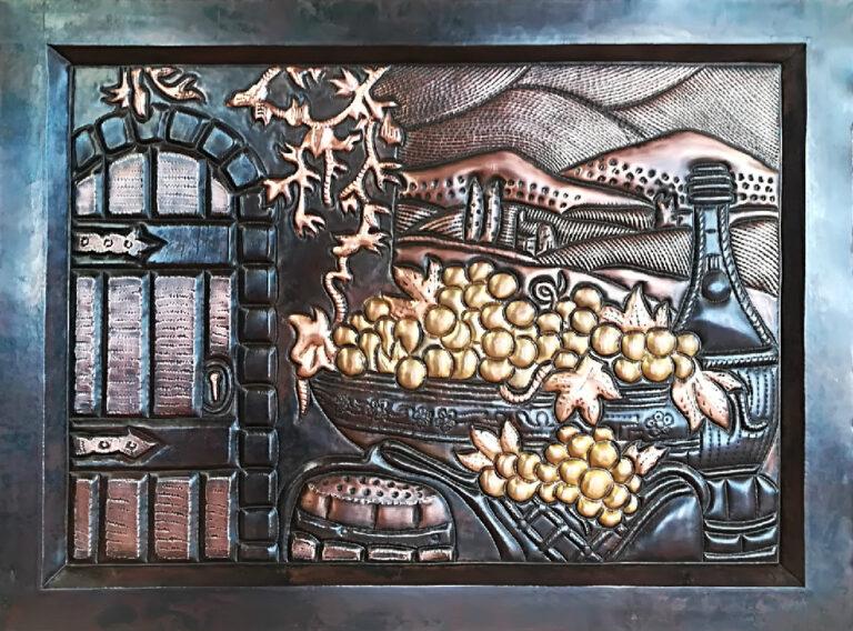 custom copper mural design