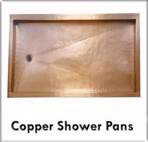 Copper shower pans