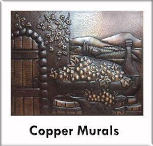 custom copper murals