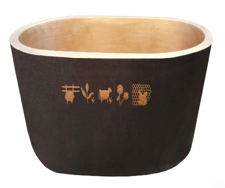 Japanese Oval Tub For A Child's Bathroom