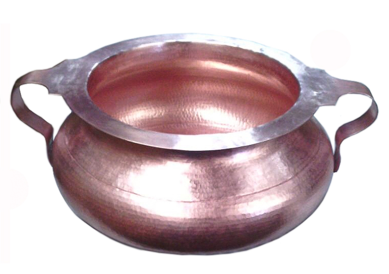 Gorgeous copper sink bowl in new penny patina