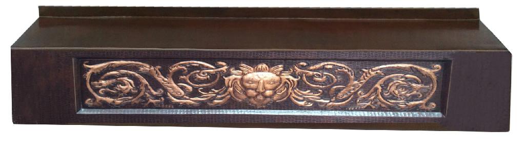 copper mantel shelf