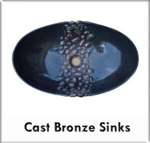 Cast bronze sinks
