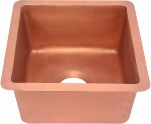 copper bar sink square