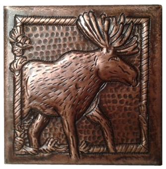 custom tile with elk design