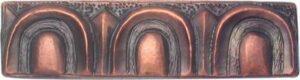 copper border tile with arc designs