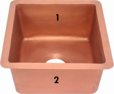 copper sink in old penny