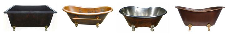 copper claw foot tub examples