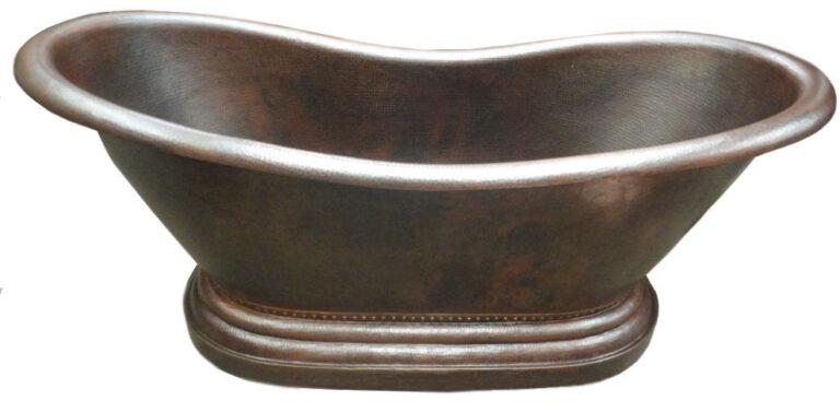 copper pedestal bath tub