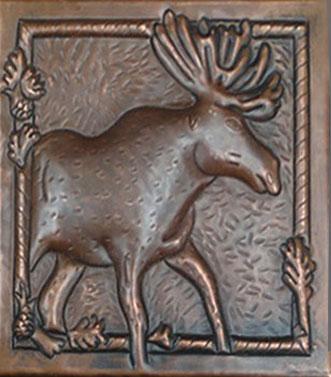 copper tile with elk