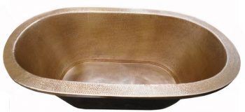 copper bath tub brown-light